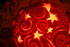 Stars and spirals pumpkin Royalty Free Stock Images