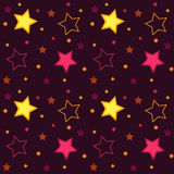 Stars square background Royalty Free Stock Photography