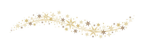 Stars. And stardust as a decorative arrangement Stock Image