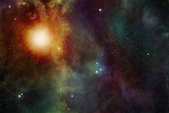 Stars and Stardust Background Stock Photo
