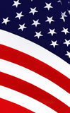Stars and stripes. Closeup of the American flag Royalty Free Stock Photo