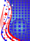 Stars and stripes. Illustration of sphere and lines with stars and stripes Stock Images