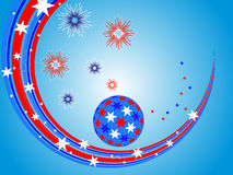 Stars and stripes. Illustration of sphere and lines with stars and stripes Royalty Free Stock Photo