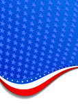 Stars & Stripes. A large patriotic background with stars and stripes, in the  file there are more stars outside the  mask, for you to mask as you like Stock Image