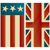 Stars and stripes. Stylized retro compozition Royalty Free Stock Images