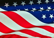 Stars and Stripes. On an American flag Royalty Free Stock Images