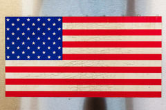 Stars and Stripes. Flag on a subway train in new york royalty free stock photography