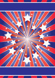 Stars and stripes. Star burst American colours. 4th of July Royalty Free Stock Photos