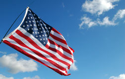 Stars and stripes. On a breezy day Royalty Free Stock Photos