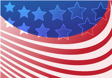 Stars and stripes. Stars and strips abstract graphic design based on US flag Stock Image