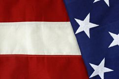 Stars and Stripes. Close-up of a stitched American flag Royalty Free Stock Images