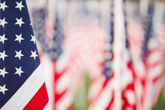 Stars and stripes. Detail with copyspace,  ideal for a patriotic background Stock Images