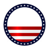 Stars and stripes abstract background Stock Images