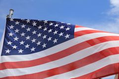 Stars and Stripes. American Flag - Stars and Stripes - blowing in the wind Stock Image