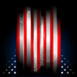 Stars and Stripes american flag, illustration Royalty Free Stock Images