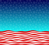 Stars and stripes american flag styled vector background Stock Photos