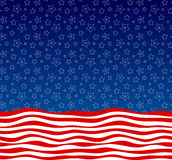 Stars and stripes american flag styled vector background Royalty Free Stock Images