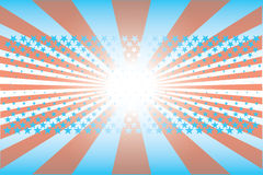 Stars and stripes background. A stars and stripes illustrated background vector illustration
