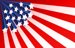Stars and stripes background. Fourth of July Patriotic background Royalty Free Stock Images