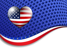 Stars & Stripes Background Royalty Free Stock Photo