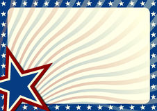 Stars and Stripes background. Detailed background illustration with stars border and american flag elements Royalty Free Stock Image