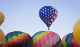 Stars and Stripes Balloon Rising First Stock Photography