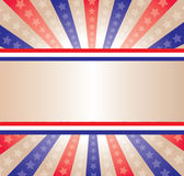 Stars and Stripes banner royalty free illustration
