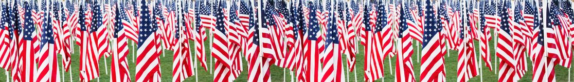 Stars and stripes banner Royalty Free Stock Photos