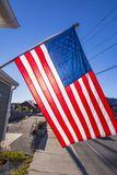 Stars and stripes banner. In morning light Stock Photo