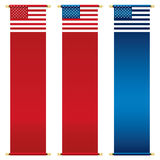 Stars and stripes banners Stock Photo