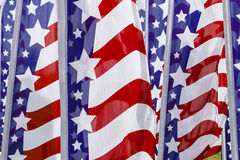 Stars and Stripes banners Royalty Free Stock Photo