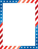 Stars and Stripes Border Royalty Free Stock Image