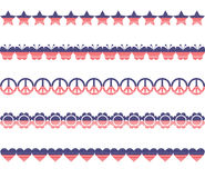 Stars Stripes Borders Stock Image