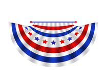 Stars and Stripes Bunting. Drape in red white and blue is patriotic or political decoration Stock Image