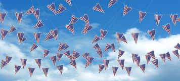 Stars and stripes bunting and pennants Royalty Free Stock Photography