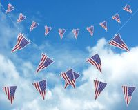 Stars and stripes bunting and pennants Stock Image