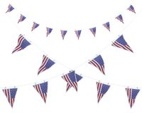 Stars and stripes bunting and pennants Stock Photos