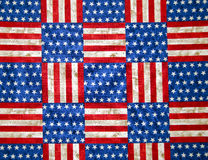 Stars and stripes checkerboard Royalty Free Stock Photography