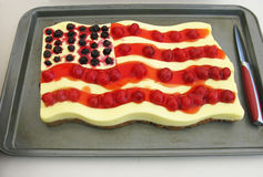 Stars and Stripes Cheese Cake Royalty Free Stock Photo