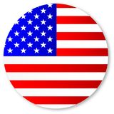 Stars and Stripes Circle. The `Stars and Stripes` flag within a circle vector illustration