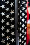 Stars and stripes, the colors of the American flag stock images