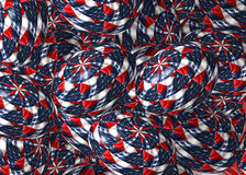 Stars and Stripes Easter Eggs Royalty Free Stock Photography