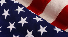 Stars and Stripes flag. Background of waving Stars and Stripes American flag Royalty Free Stock Photos