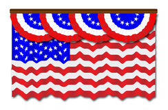 Stars And Stripes Flag And Bunting Royalty Free Stock Photography
