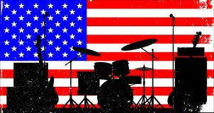 USA Rock Band Royalty Free Stock Photography