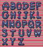 Stars and stripes font Stock Photo