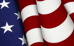 Stars and Stripes forever. Extreme close up of stars and stripes from the American flag Royalty Free Stock Image