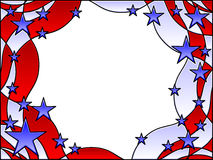 Stars and stripes frame. Stained glass patriotic stars and stripes frame Stock Images