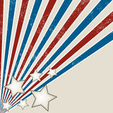 Stars and Stripes Grunge Design Stock Image