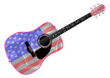 Stars and Stripes Guitar Stock Photos
